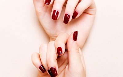 Beautiful nails painted in red